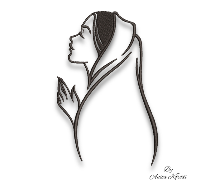 Machine Embroidery Design Virgin Mary Christian digital instant download
