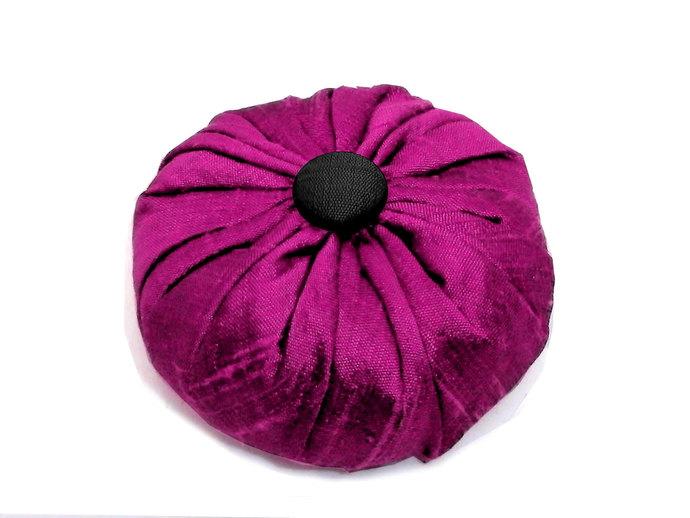 Hot Pink Silk Lavender Sachet in Dupioni Silk