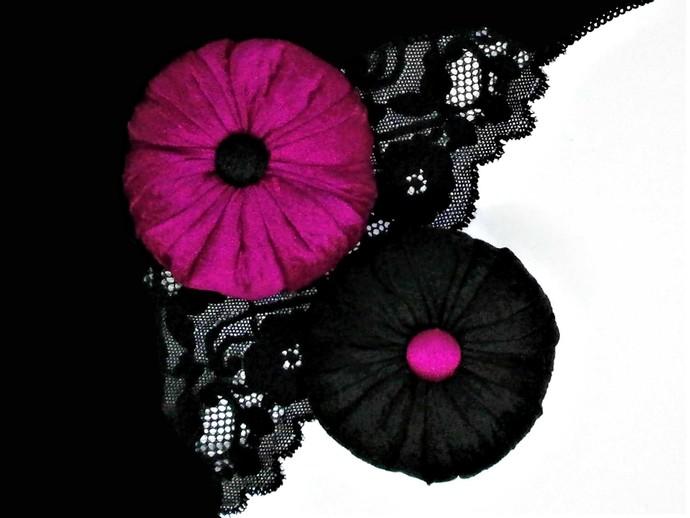 Black Silk Lavender Sachet