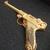 BIOHAZARD 3 Gold Luger w/ Wooden Glass Box - Hong Kong Comic - Capcom Resident