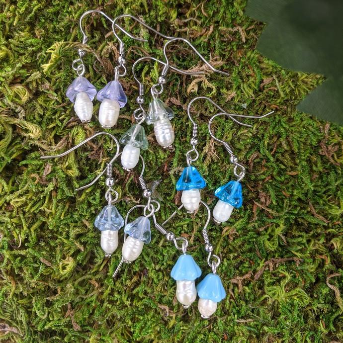 Handmade Cottagecore Mushie Earrings