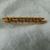 Edwardian 18kt. gold turquoise bar pin antique