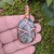 Handmade Wire Wrapped Copper and Stone Pendant