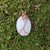 Handmade Wire Wrapped Dolemite Marble Pendant Necklace
