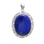 925 Sterling Silver Pendant,Gemstone Pendant,Lapis Lazuli Oval Pendant,Lapis