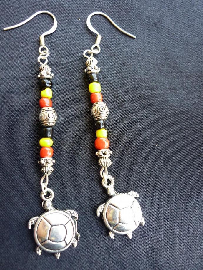 Tribal Turtle Earring