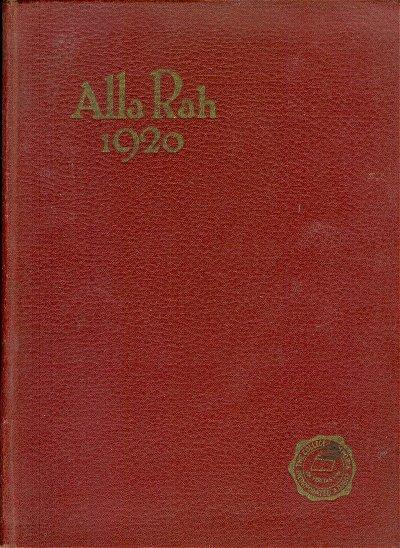 Emporia Kansas College Yearbook 1920 Alla Rah School Memorabilia