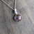 Dichroic Glass and Sterling Silver Columbine with Butterfly Pendant
