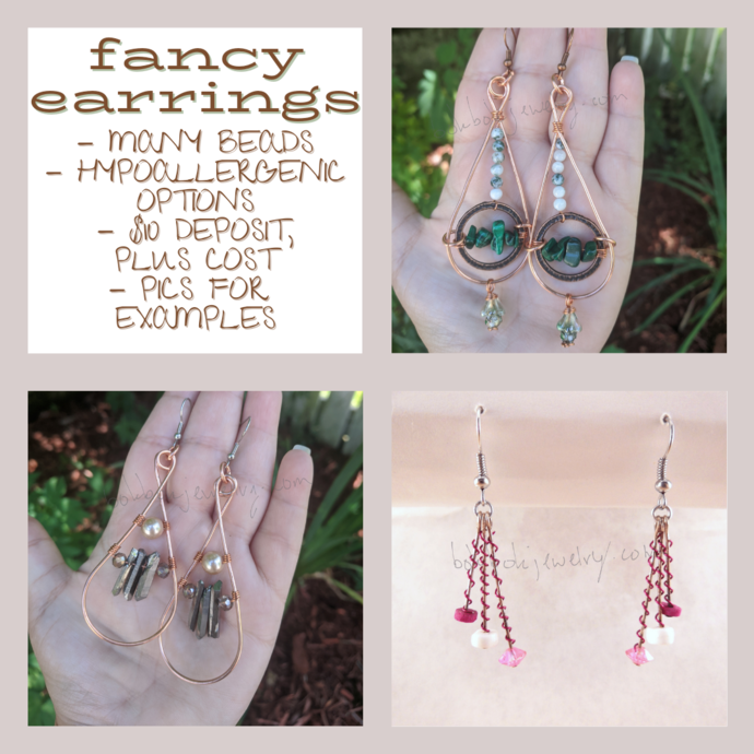 Custom Handmade Statement Earrings