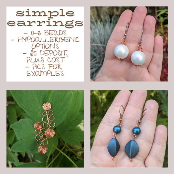 Custom Handmade Simple Earrings