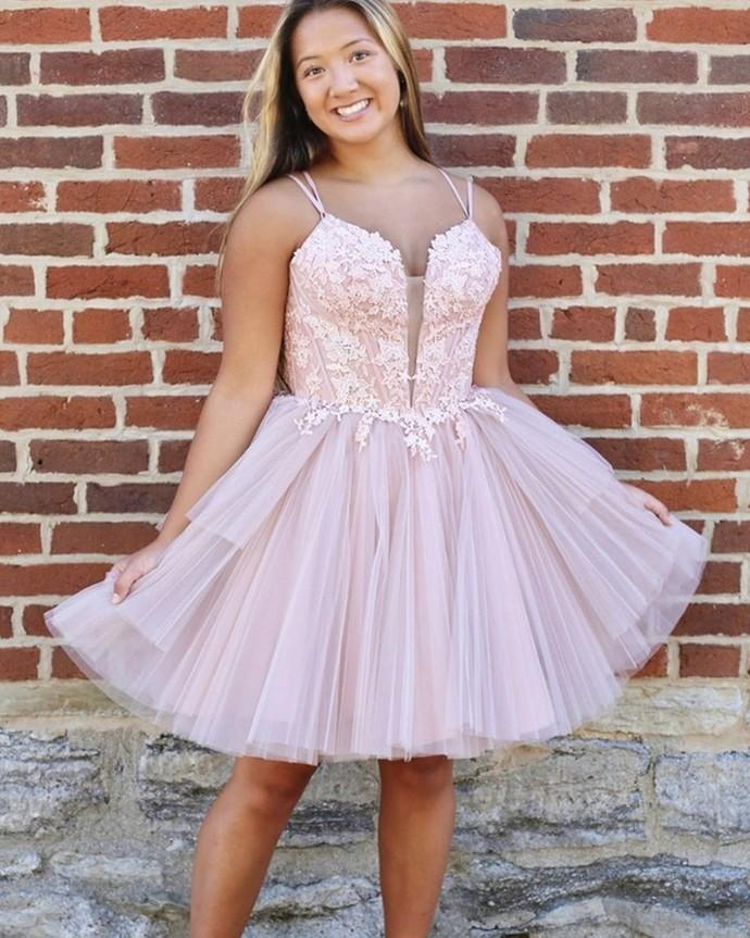 New Arrival V-Neck  A-Line Homecoming Dresses,Short Prom Dresses,Cheap