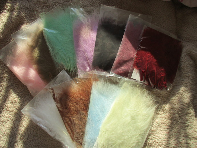 Pack of 20 Super Soft Marabou Feathers - These are the BEST Feathers to work