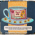 Friendship Tea with 5 Sentiments - digital image, outlined, stamp, craft supply