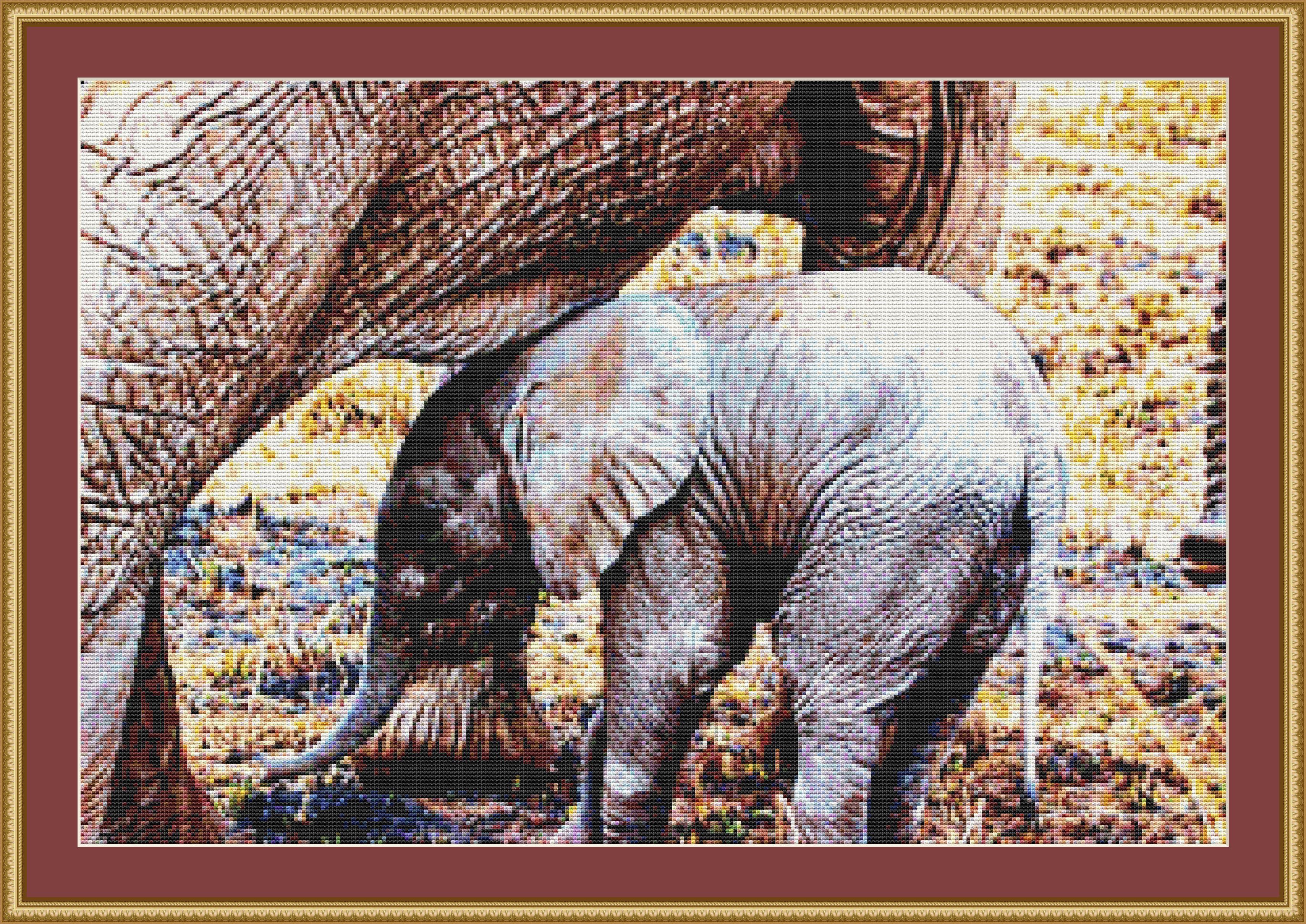 Sweet Baby Elephant Cross Stitch Pattern