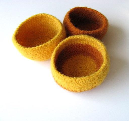 Felted Bowl Set of Three