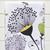 Napkins cotton 100% with Dandelions Print. Set of 4 napkins. Cotton Rich Linen.