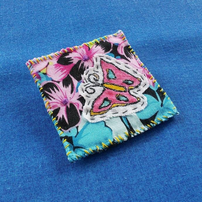 Fabric Art Brooch - Butterfly