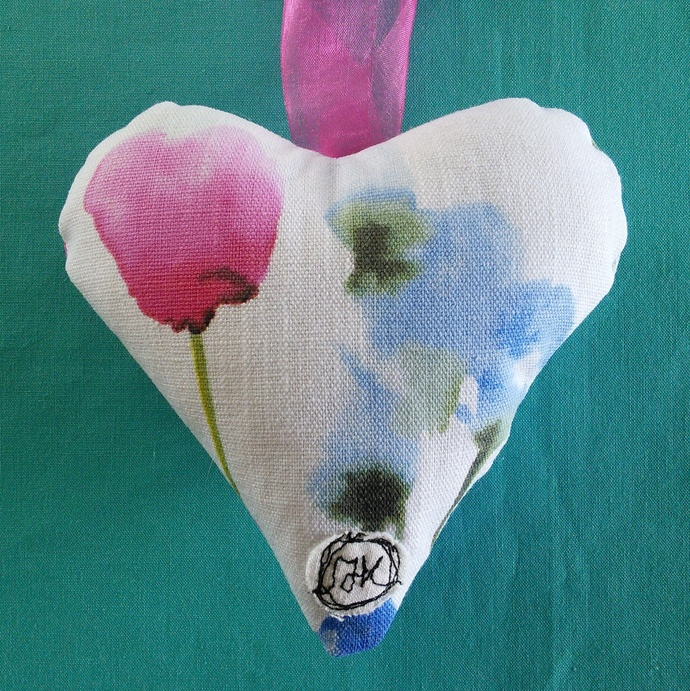 Fabric Poem Heart - Mothers Are Special