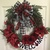 All Season grapevine wreath welcome sign with lady bugs