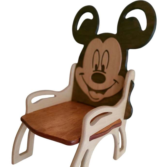 Baby eco wooden chair Mickey Mouse kindergarten chair nursery bench baby