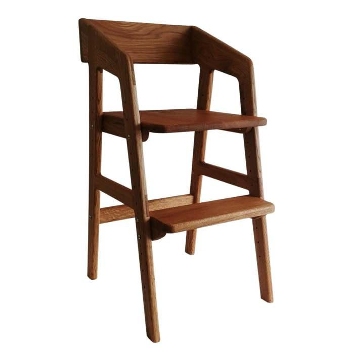 Dismountable Stool GladCo Oak wooden highchair children's highchair height
