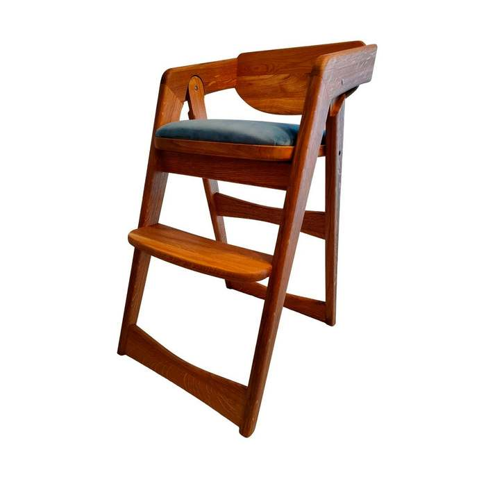 Wooden Baby Highchair Feed Kids High Chair Feeding Chair for Toddler Safety Seat