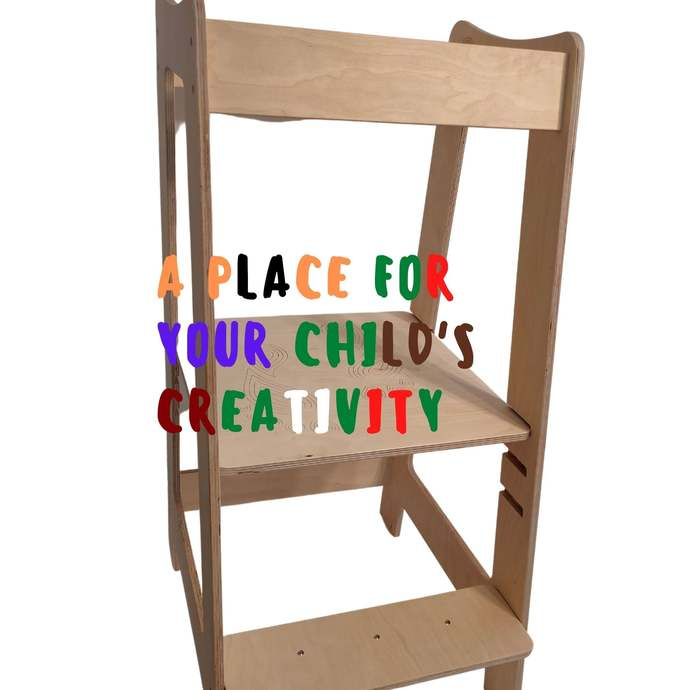1 Creative Gift for kids, Kitchen Assistant Tower, Toddler Step, Montessori