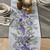 Table Runner Cotton 100% with Purple Flowers Print. Table Linens. Table Linens