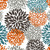 Table Runner Cotton 100% with Flowers Pattern. Table Linens. Table Linens for