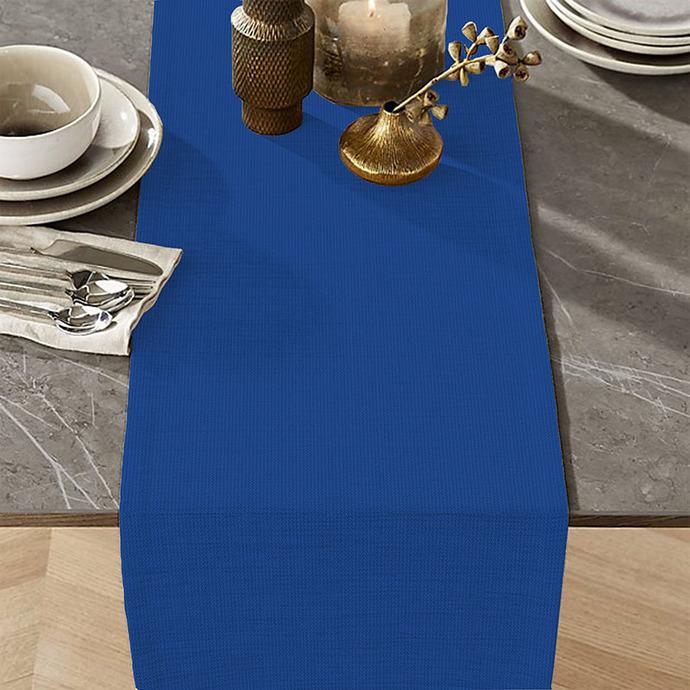 Table Runner Cotton 100% Blue Monochromatic. Table Linens. Table Linens for