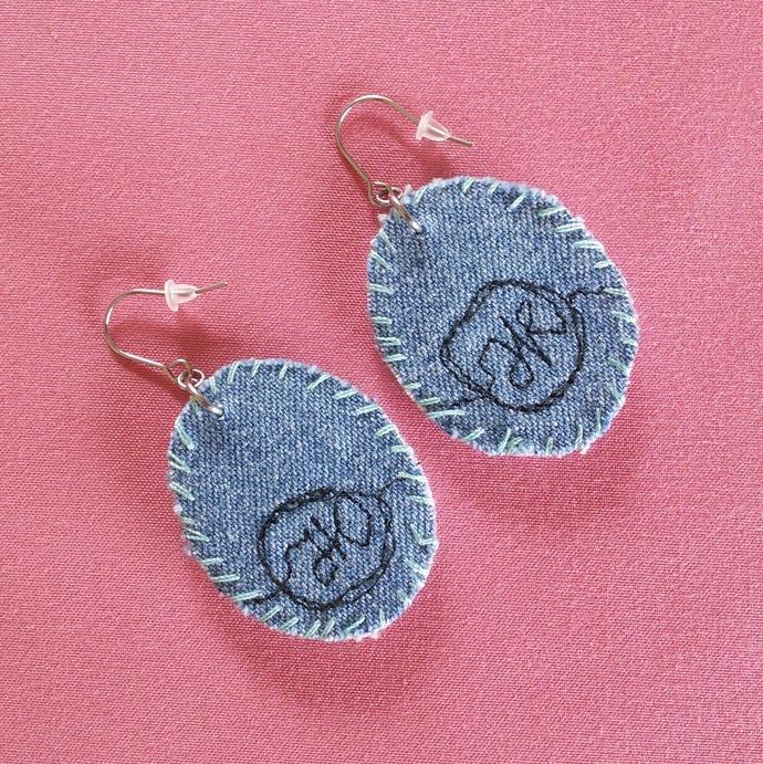 Fabric Art Earrings