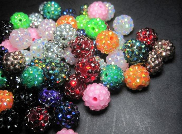 Free Fast Shipping to USA --500pcs  resin beads 16mm Round in assortment colors