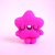 TINY TOY Fluo Pink Star, miniature star, needle felted art toy, collectible toy