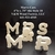 MR & MRS Wedding Reception Stand Alone Wood Letters Unfinished Style 10 Stk No.