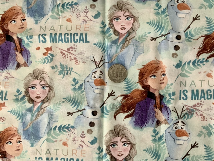 9x21 inch Disney Frozen Remnant Fabric  - ALL SALES FINAL - DESTASH - USA Only