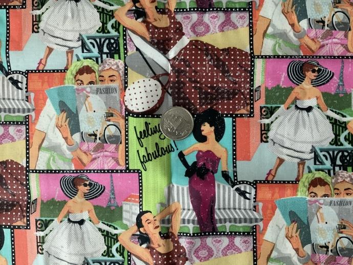 9x21 inch Vintage Remnant Fabric  - ALL SALES FINAL - DESTASH - USA Only