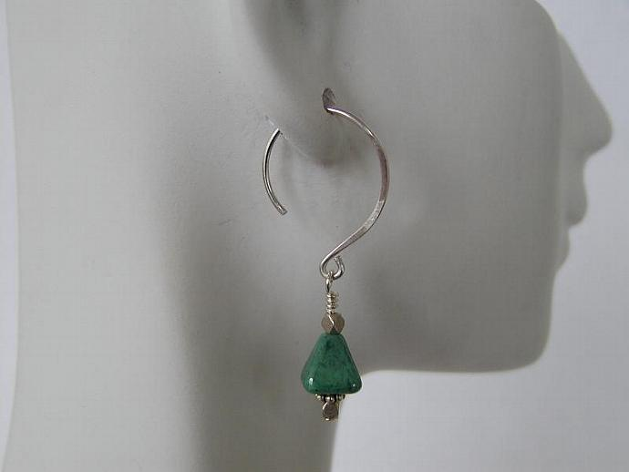 Handcrafted Green Earrings