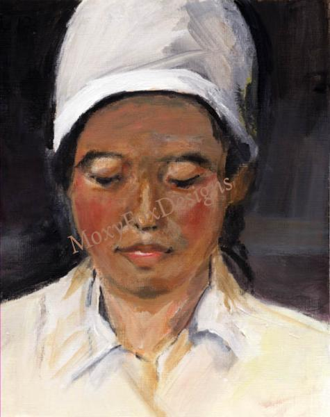 CHINESE DOCTOR Fine Art Portrait Giclee Print  Fits 11 x 14 Inch Frame Medicine