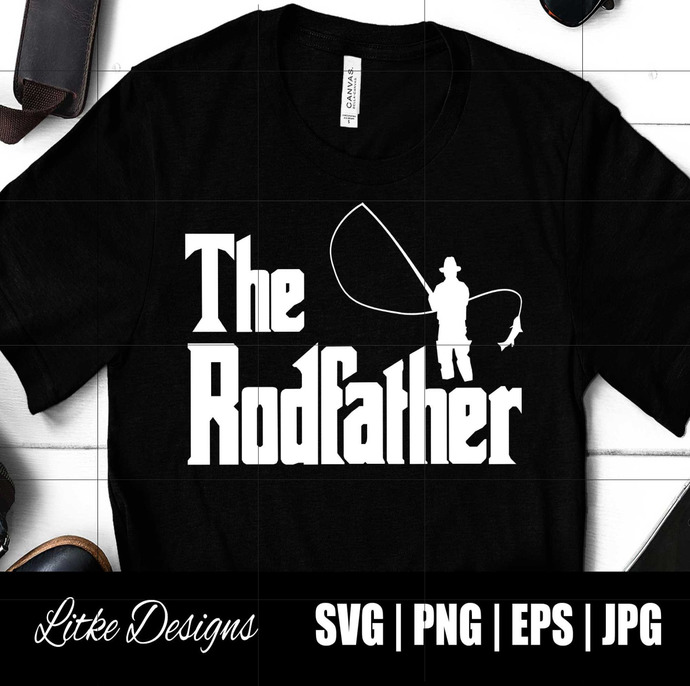 Download The Rodfather Svg Funny Fishing Svg Fishing Cut By Dizzisvg On