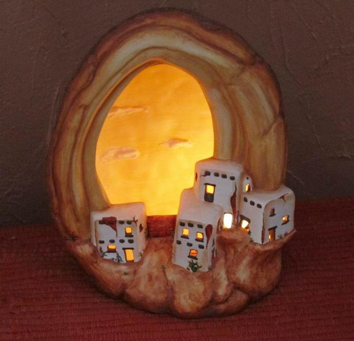 E-LNT-9 - HOPI VILLAGE GEODE NIGHT-LIGHT