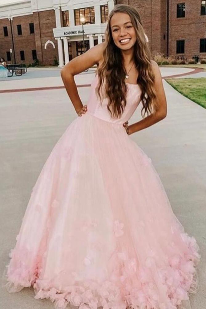 Elegant Burgundy Sleeveless Tulle Prom Dresses H5457