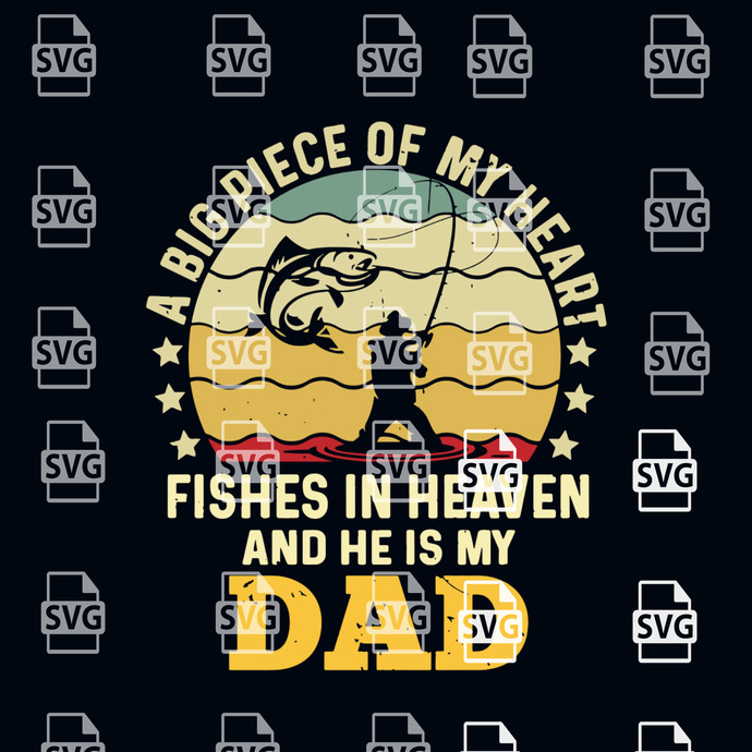 Download A Big Piece Of My Heart Svg Fathers Day By Blackleopardshop On Zibbet