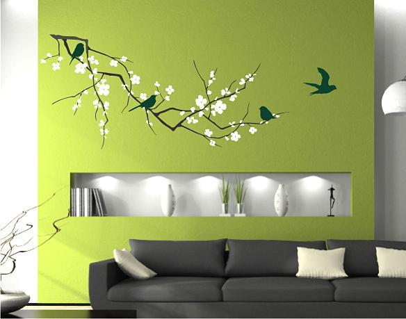 Cherry Blossom Branch - Vinyl Wall Decals