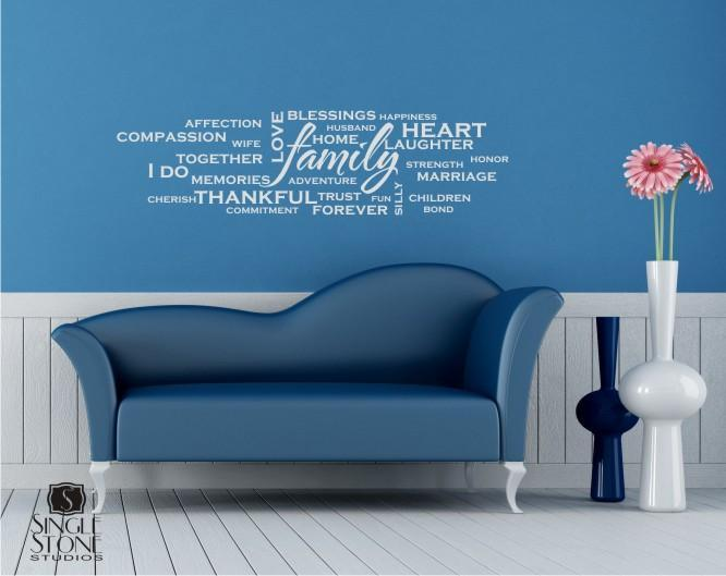 Family Wordle - Vinyl Wall Decal