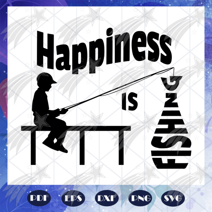 Hapiness Is Fishing Svg Fish Svg Hunting By Paradiseshop On Zibbet