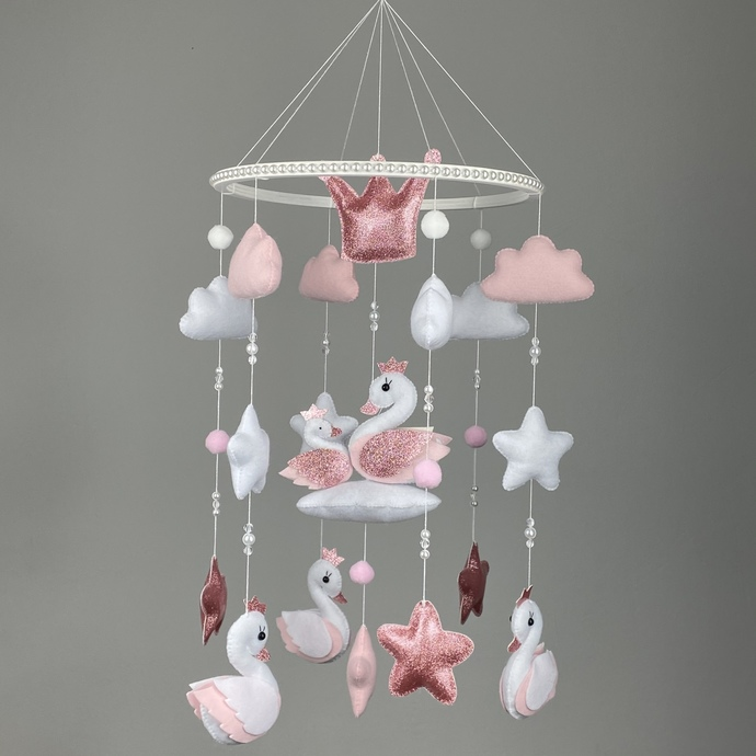 Baby mobile for girl