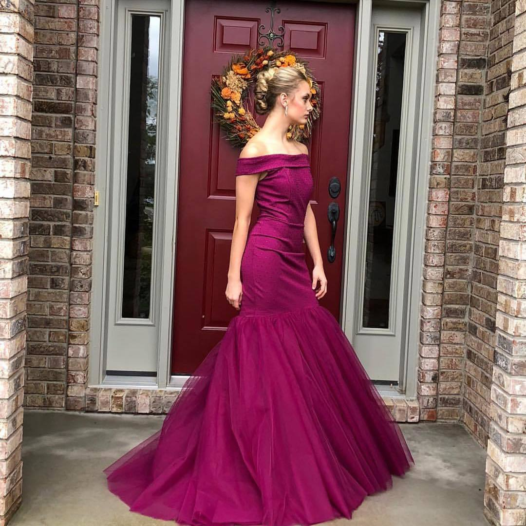 Off The Shoulder A-line Prom Dresses Long Prom Dresses,Cheap Prom Dresses,