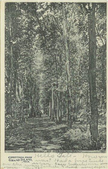 1900s Postcard Stanley Park Grand Island Nebraska Vintage View