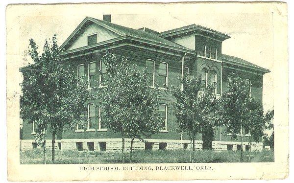 Vintage 1900s Postcard High School Blackwell Oklahoma View
