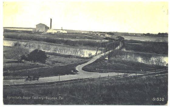 Antique 1910s Postcard Spreckels Sugar Factory Salinas California